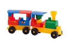 белизна поезда игрушки предпосылки Стоковые Изображения RF