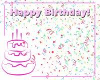 белизна поздравительой открытки ко дню рождения счастливая Иллюстрация вектора