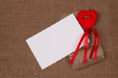 белизна поздравлению карточки Стоковое Изображение