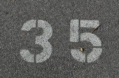 Белизна 35 покрашенная на смолке Стоковые Фото