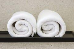 белизна полотенца Стоковая Фотография