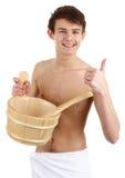 белизна полотенца sauna ванты Стоковая Фотография RF