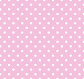 белизна польки многоточий розовая Стоковая Фотография RF