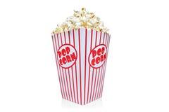 белизна попкорна коробки красная Стоковые Фотографии RF