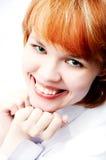 белизна портрета девушки Стоковая Фотография