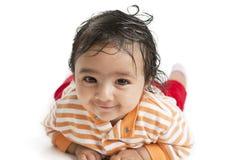 белизна портрета предпосылки младенца ся Стоковая Фотография