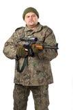белизна портрета человека пушки Стоковые Изображения