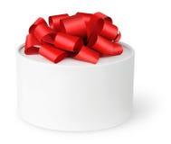 белизна подарка коробки Стоковое Изображение