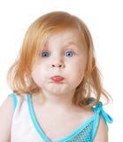 белизна предпосылки изолированная девушкой Стоковая Фотография