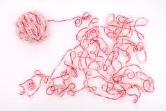 белизна предпосылки изолированная клубоком Стоковые Фотографии RF
