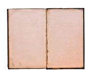 белизна предпосылки изолированная книгой старая открытая Стоковые Фото