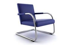 белизна предпосылки кресла изолированная синью Стоковая Фотография