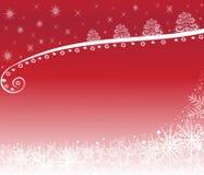 Белизна предпосылки рождества на красном цвете Стоковая Фотография RF