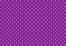 Белизна предпосылки точек польки фиолетовая Стоковое Изображение