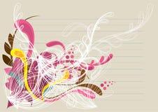 белизна предпосылки флористическая розовая живая Стоковое Фото