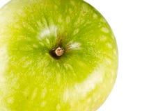 белизна предпосылки яблока изолированная зеленым цветом Стоковое Изображение