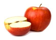 белизна предпосылки яблока красивейшая Стоковое Изображение
