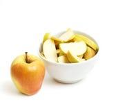 белизна предпосылки яблок Стоковые Изображения RF