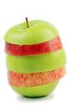 белизна предпосылки яблок Стоковые Изображения