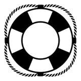 белизна предпосылки lifebuoy Стоковое Изображение RF
