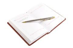 белизна примечания предпосылки изолированная книгой Стоковые Фотографии RF
