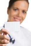 белизна пустого доктора визитной карточки содружественная Стоковые Изображения RF