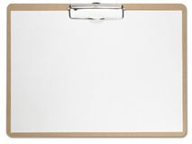 белизна пустого clipboard горизонтальная бумажная Стоковая Фотография