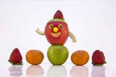 белизна разнообразия плодоовощ предпосылки Стоковое Изображение RF