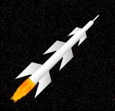 белизна ракеты Стоковое Изображение