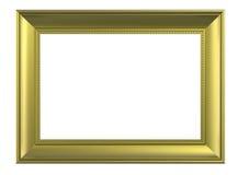 белизна рамки предпосылки изолированная золотом матовая Стоковые Изображения