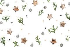 белизна рамки рождества предпосылки Стоковое Изображение