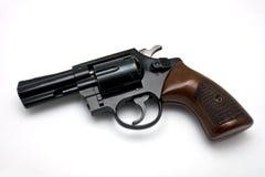 белизна револьвера предпосылки Стоковое фото RF