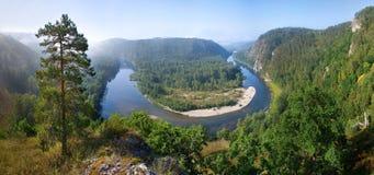 белизна реки Стоковое Изображение