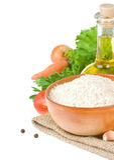 белизна риса еды здоровая изолированная Стоковое Фото