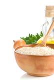 белизна риса еды здоровая Стоковые Изображения RF