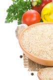 белизна риса ингридиента еды Стоковые Изображения RF