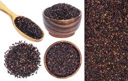 белизна риса предпосылки изолированная чернотой Стоковые Фото
