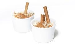 белизна риса 2 пудинга предпосылки вкусная Стоковые Фотографии RF