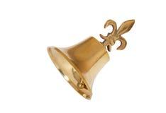 белизна рождества колокола золотистая изолированная Стоковое фото RF