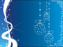 белизна рождества предпосылки голубая Стоковая Фотография RF