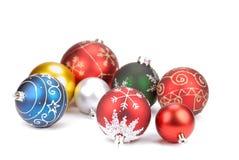 белизна рождества шариков различная Стоковые Изображения