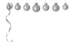 белизна рождества шариков Стоковые Изображения RF