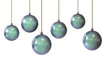 белизна рождества шариков Стоковое фото RF