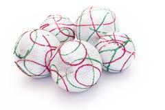 белизна рождества 5 шариков Стоковое Изображение
