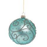 белизна рождества bauble Стоковые Изображения