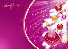 белизна рождественской елки предпосылки Стоковое Изображение RF