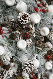 белизна рождественской елки Стоковая Фотография