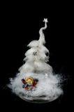 белизна рождественской елки Стоковое Изображение