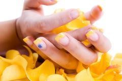 белизна розы ногтей Стоковое Фото