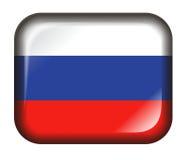 белизна России влияния кнопки 3d изолированная флагом иллюстрация вектора